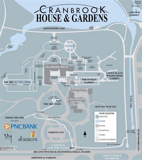 map cranbrook house and gardens