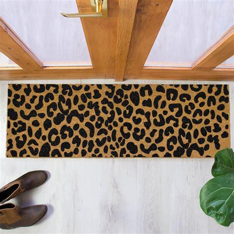 Leopard Doormat by Buy Artsy Doormats Leopard Print Patio Doormat Black Amara