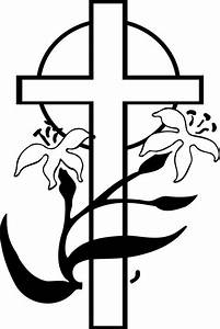 easter cross clipart black and white - Clipground