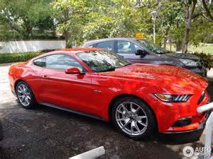 50th anniversary plates ford mustang gt 50th anniversary edition 6 april 2015
