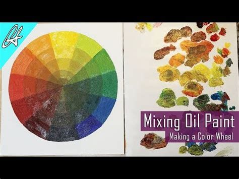 learn to mix paint by a color wheel painting basics youtube