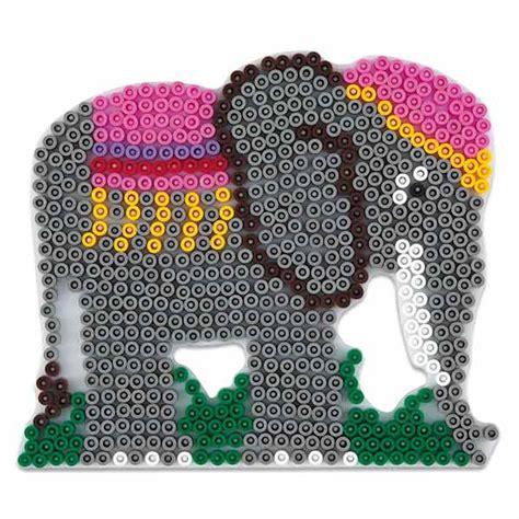 siege pour jeux plaque pour perles à repasser éléphant hama king jouet