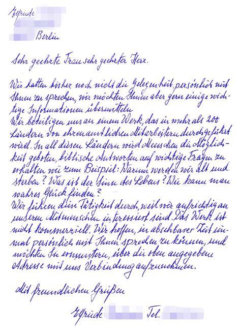 handwritten letter format levelings