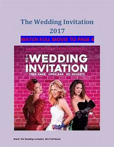 Watch the wedding invitation 2017 full movie hd hindi for A wedding invitation movie watch online
