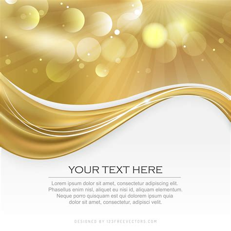 abstract gold background graphic design template