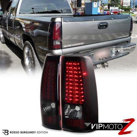 02 silverado tail lights 99 02 chevy silverado truck 1500 2500 3500 led red smoke