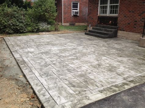 sted concrete backyard ideas concrete patio chadds ford pa difelice sted concrete