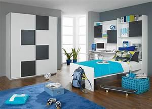 Chambre Ado Garçon : peinture chambre garcon ado avec idee rangement chambre ~ Melissatoandfro.com Idées de Décoration