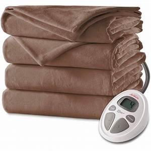 Sunbeam Velvet Plush Heated Electric Blanket  1 Each