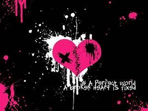 Broken Emo Heart Wallpaper | Emo Wallpapers of Emo Boys ...