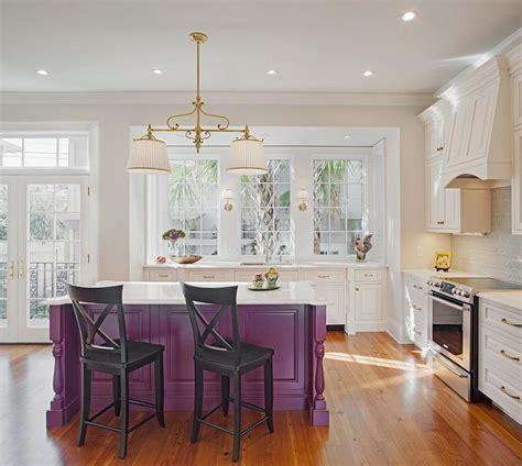 gray kitchen island  turned legs transitional kitchen