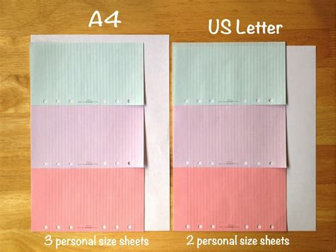letter size vs a4 philofaxy guest post getting ready to spruce up your 29019