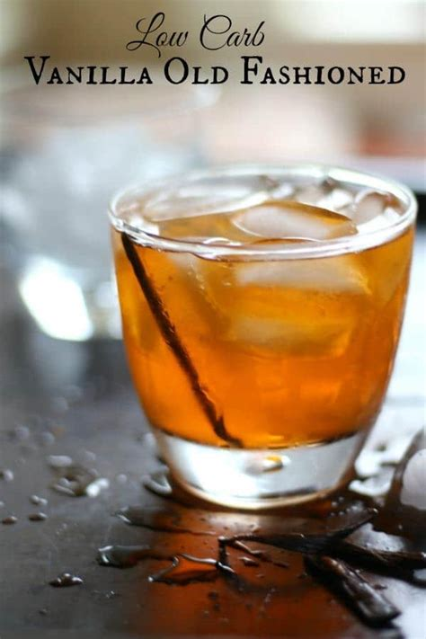 vanilla  fashioned cocktail lowcarb ology