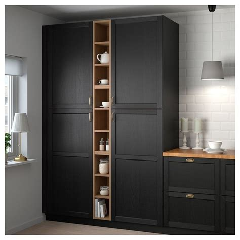 vadholma open storage brown stained ash ikea