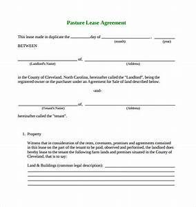 Pasture lease agreement template 6 download free for Simple land lease agreement template