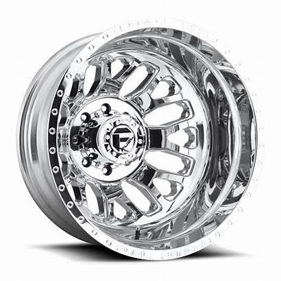Wheels Fuel Rear Dually Polished Wheel Rims