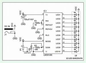 Battery Voltage Level Indicator With Lm3914
