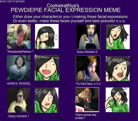 pewdiepie facial expression meme   maliemokono