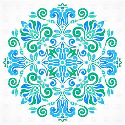 Pattern Clipart Circle Floral Clip Graphic Vector