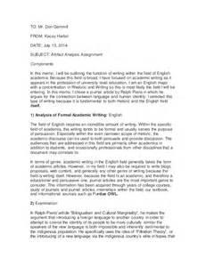 Rhetorical Analysis Essay Outline Example
