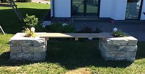 Blumentöpfe Aus Stein : diy gartenbank aus steinen selber bauen michael gerhardy ~ Lizthompson.info Haus und Dekorationen
