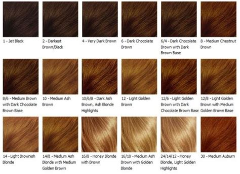 loreal hair colour chart  wwwproteckmachinerycom