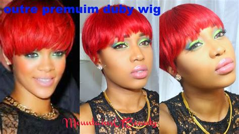 Rihanna Inspired Red Hair -outre Duby Wig Color Red