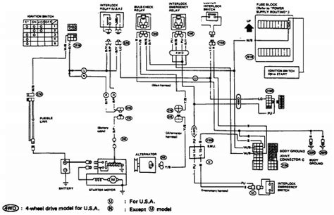 1994 Nissan Wiring Diagram by 1994 Nissan Truck Wiring Diagram Wiring Diagram For Free