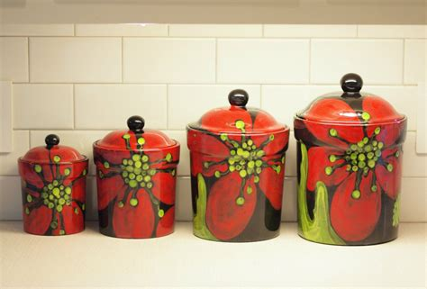 Canister Set Ceramic Kitchen Canisters Pottery By Romyandclare