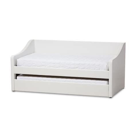 how to organize my kitchen baxton studio barnstorm contemporary white faux leather 7303