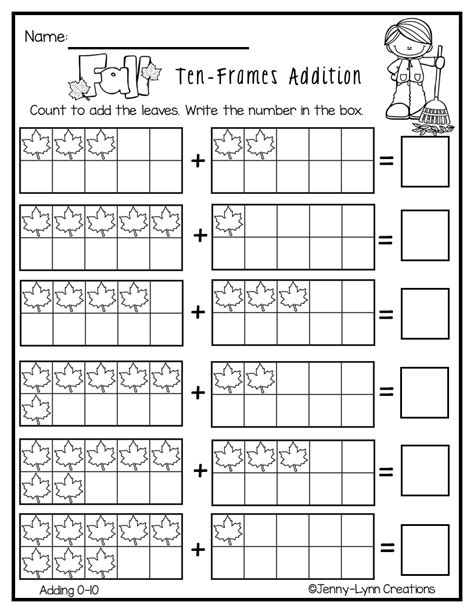 fall addition  images fun worksheets addition