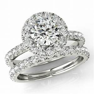 150 ct forever one moissanite and diamond wedding set With wedding rings set for women