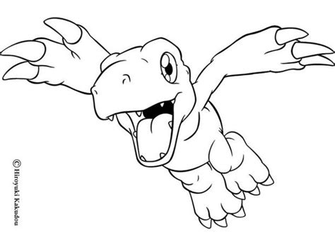 Agumon Flying Coloring Pages