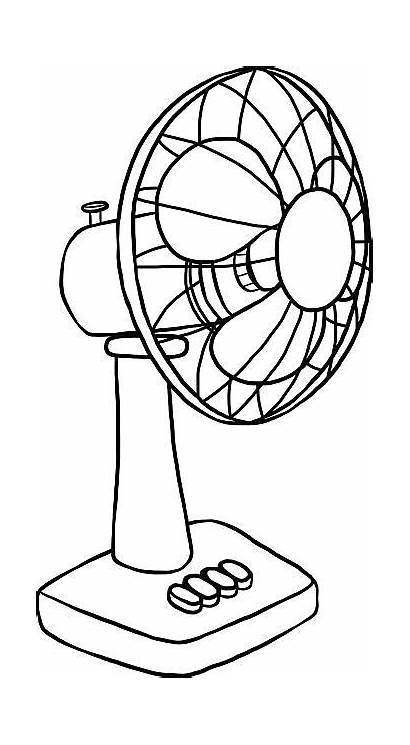Fan Electric Clipart Table Vector Drawing Clip