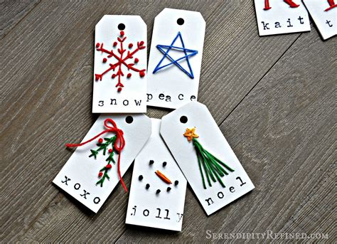 serendipity refined blog embroidered monogram gift tags