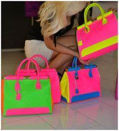 Neon Neon colors and Purses on Pinterest