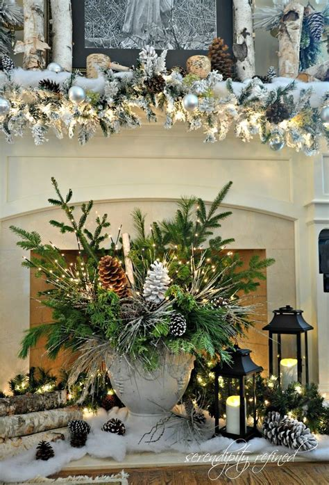 35 beautiful christmas mantels style estate