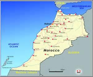 モロッコ:モロッコ地図