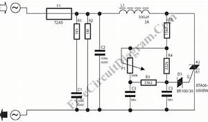 dimmer circuit bta06 circuit diagram world With 120v ac lamp dimmer