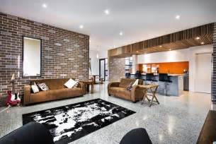 interior decorated homes house decorated in brick veneer inside and out modern house designs