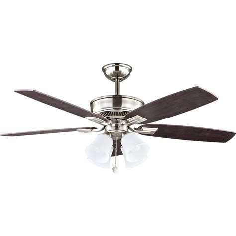 52 brushed nickel ceiling fan home decorators collection petersford 52 in led brushed