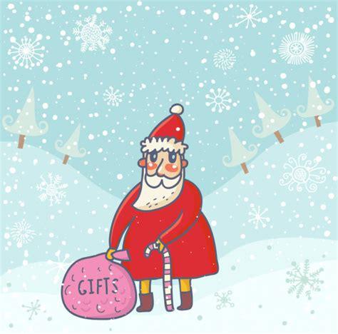 Santa Claus Card By Benchart Vectors Eps Santa Claus Cards Design Vector Free Vector In Adobe