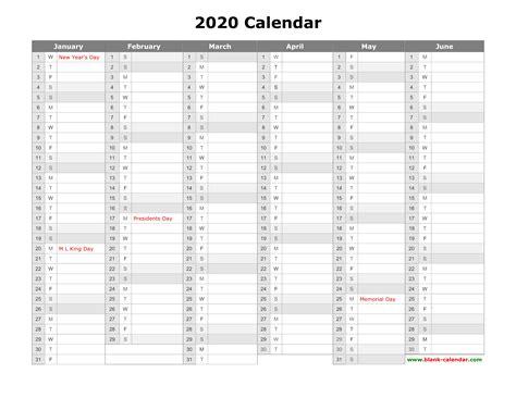 calendar year calendar