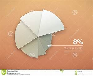 Graph Diagram  Vector Pie Chart Stock Vector