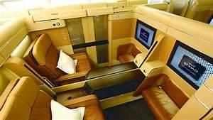 Etihad Airways' striking new first class cabin