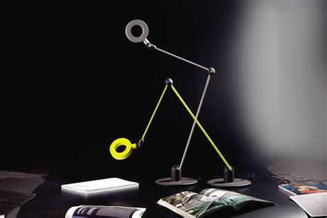 lamica led table lamp green yellow  martinelli luce