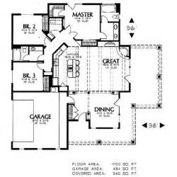 one story bungalow house plans adobe southwestern style house plan 3 beds 2 baths