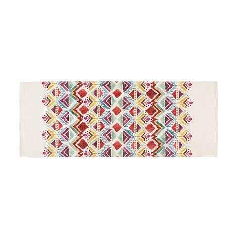 tapis imprime ethnique multicolore xcm pondichery