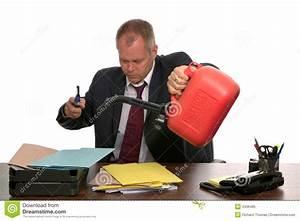 businessman burning paperwork royalty free stock photo With burning documents