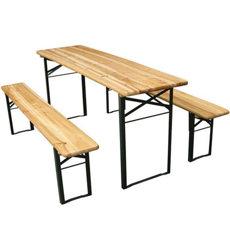 Camping Bench And Table by Folding Trestle Bench Table Picnic Camping Party Garden